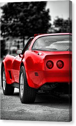 Black And White And Red All Over Canvas Print by Gordon Dean II