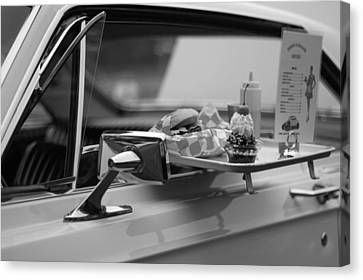Black And White Carhop Canvas Print by Dan Sproul