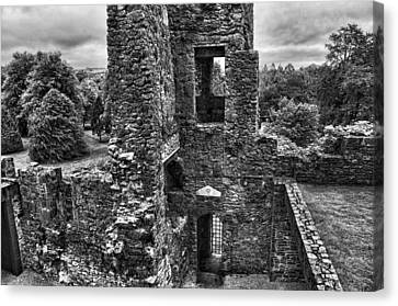 Black And White Castle Canvas Print
