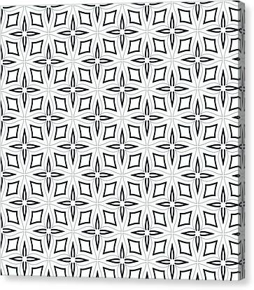 Black And White Designs Canvas Print by Savvycreative Designs