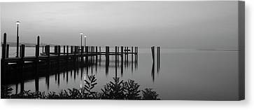 Black And White Dock Canvas Print