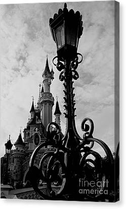 Black And White Fairy Tale Canvas Print