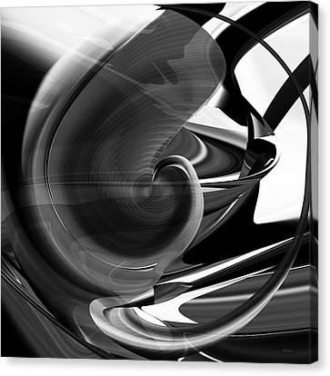 Black And White Future Abstract Canvas Print by rd Erickson