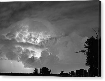 Black And White Light Show Canvas Print