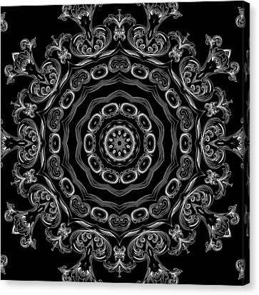 Black And White Medallion 2 Canvas Print by Angelina Vick