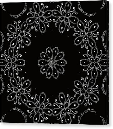 Black And White Medallion 4 Canvas Print by Angelina Vick