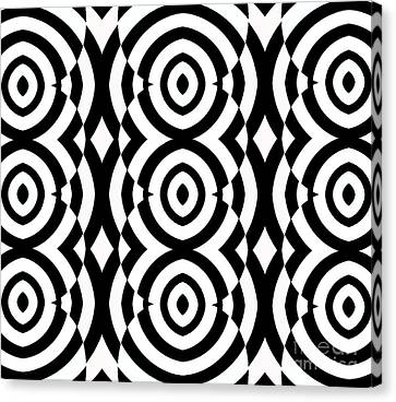 Black And White Op Art Pattern No.249. Canvas Print by Drinka Mercep