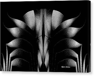 Canvas Print featuring the mixed media Black And White by Rafael Salazar