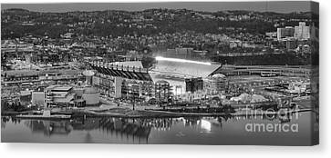 Black And White Reflections On The North Shore Canvas Print by Adam Jewell