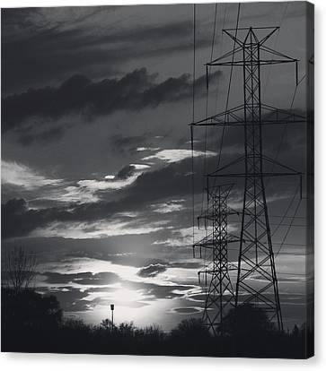 Black And White Skies Canvas Print