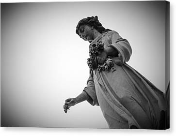 Black And White Statue Canvas Print
