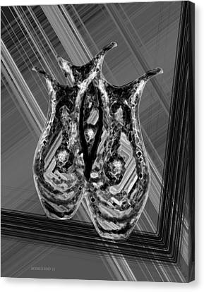 Black And White Still Life Canvas Print by Mario Perez