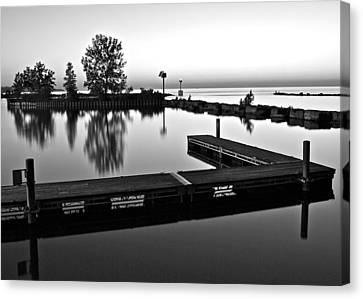 Black And White Sunset Canvas Print by Frozen in Time Fine Art Photography