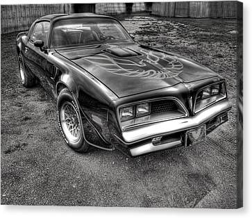 Black And White Trans Am Canvas Print