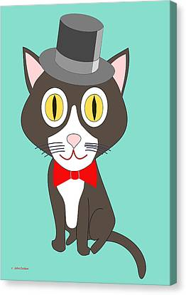 Black And White Tuxedo Cat Canvas Print