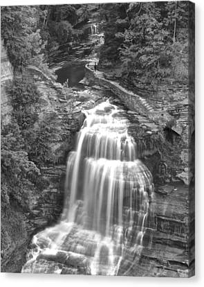 Black And White Water Canvas Print