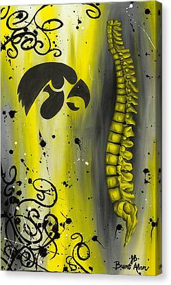 Black And Yellow Canvas Print by Brent Buss