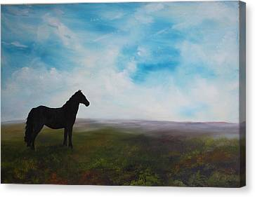 Black As Night In The Light Of Day Canvas Print by Jean Walker