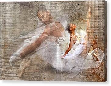 Black Ballerina Canvas Print by Lynda Payton