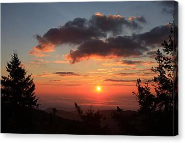 Black Balsam Sunrise - Blue Ridge Parkway  Canvas Print by Mountains to the Sea Photo