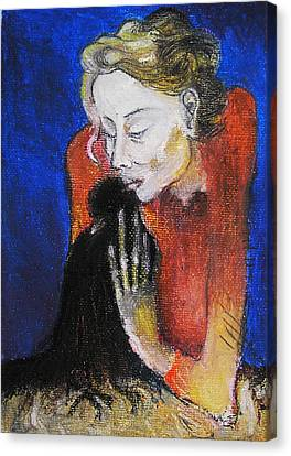 Black Bird After Picasso. Canvas Print by Alicja Coe