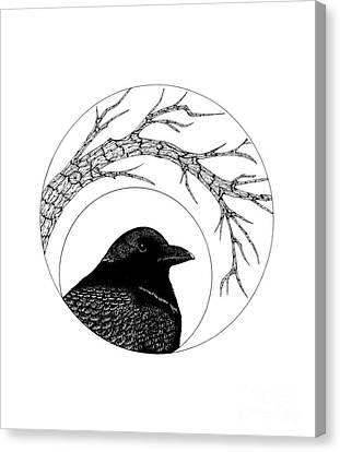 Black Bird Canvas Print by Billinda Brandli DeVillez