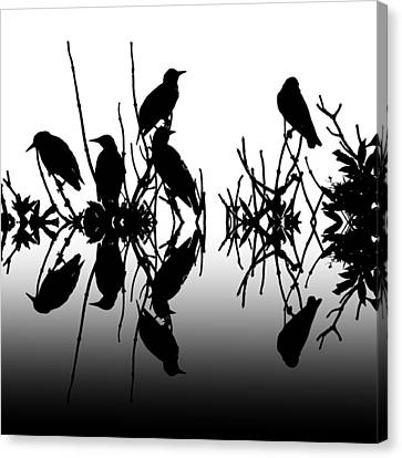 Black Birds Canvas Print by Sharon Lisa Clarke