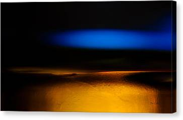 Black Blue Yellow Canvas Print by Bob Orsillo
