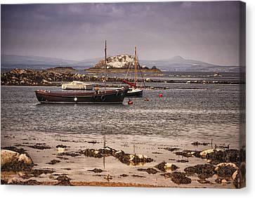 Black Boat Canvas Print