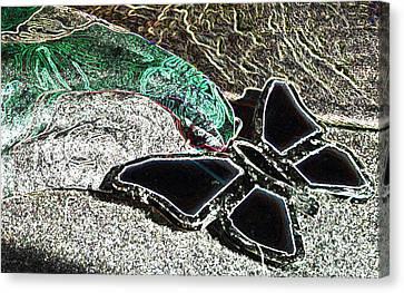 Black Butterfly Canvas Print by Lovina Wright