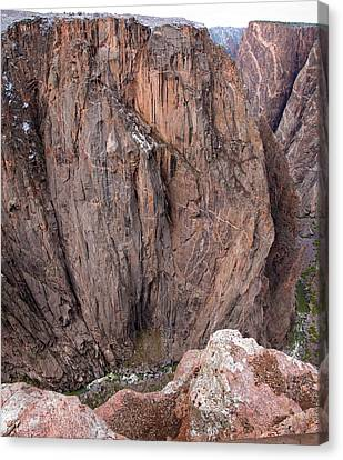 Canvas Print featuring the photograph Black Canyon Chasm View by Eric Rundle