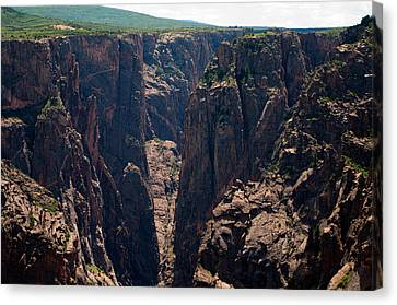 Canvas Print featuring the photograph Black Canyon The Narrows  by Eric Rundle