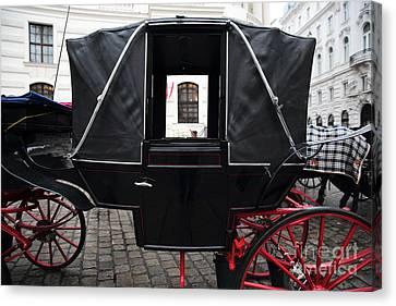 Black Carriage In Vienna Canvas Print