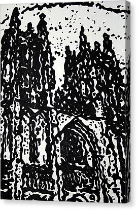 Black Cathedral  Canvas Print by Oscar Penalber