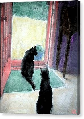 Black Cats Canvas Print by Art by Kar