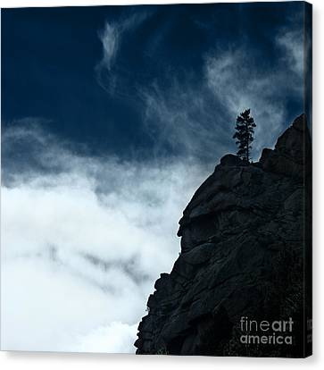 Canvas Print featuring the photograph Black Cliff by Dana DiPasquale