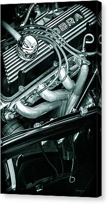Black Cobra - Ford Cobra Engines Canvas Print by Steven Milner