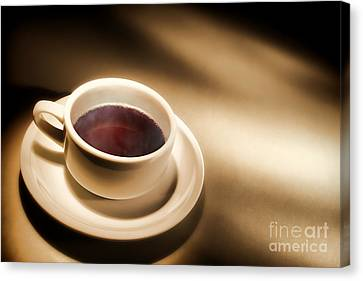 Black Coffee Canvas Print by Olivier Le Queinec