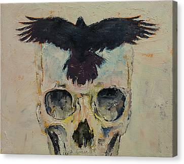 Black Crow Canvas Print by Michael Creese