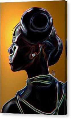 Black Diamonds And Pearls Canvas Print by  Fli Art