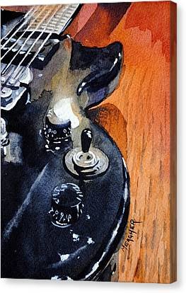 Black Epiphone Canvas Print by Spencer Meagher