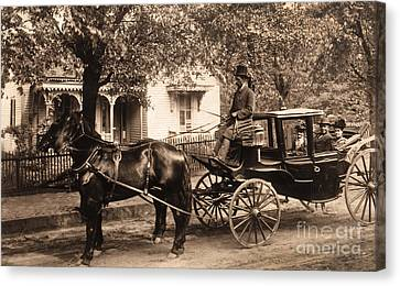 Black Family In Buggy Canvas Print by Paul W Faust -  Impressions of Light
