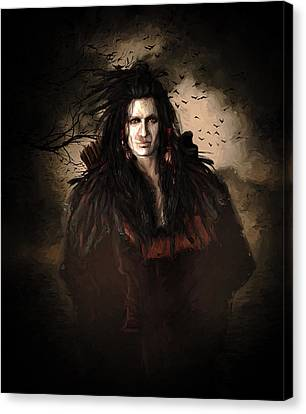 Black Feather Crow Clan Canvas Print by Shanina Conway
