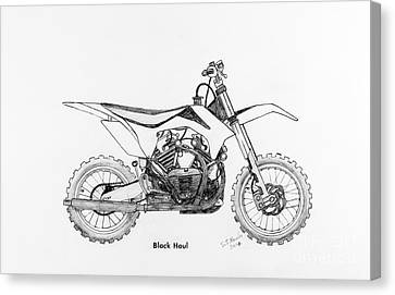 Disc Canvas Print - Black Haul by Stephen Brooks