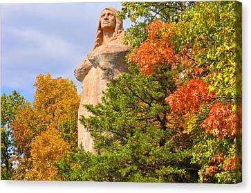 Lowden State Park Canvas Print - Black Hawk In Fall by Daniel Ness
