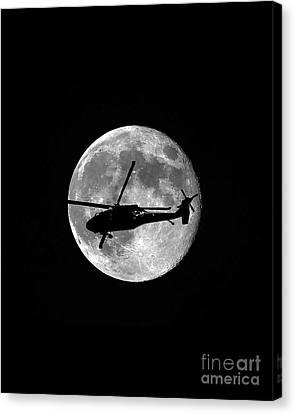 Black Hawk Moon Vertical Canvas Print by Al Powell Photography USA