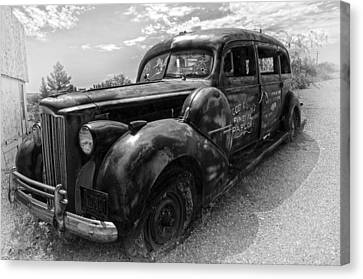 Black Hearse Antique Canvas Print by Dave Dilli