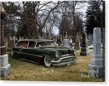 Black Hearse Canvas Print by Tom Straub