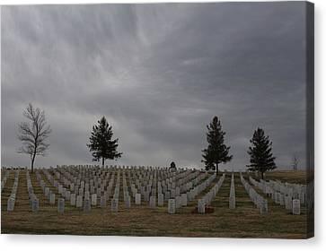 Black Hills Cemetery Canvas Print
