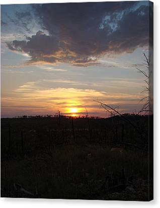 Canvas Print featuring the photograph Black Hills Sunset IIi by Cathy Anderson